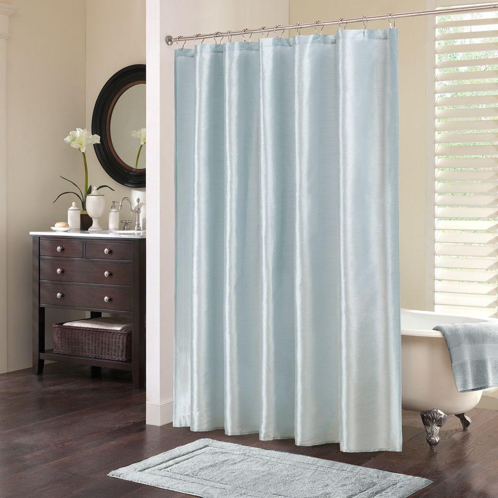Ba era con cortina im genes y fotos for Accesorios para cortinas de bano