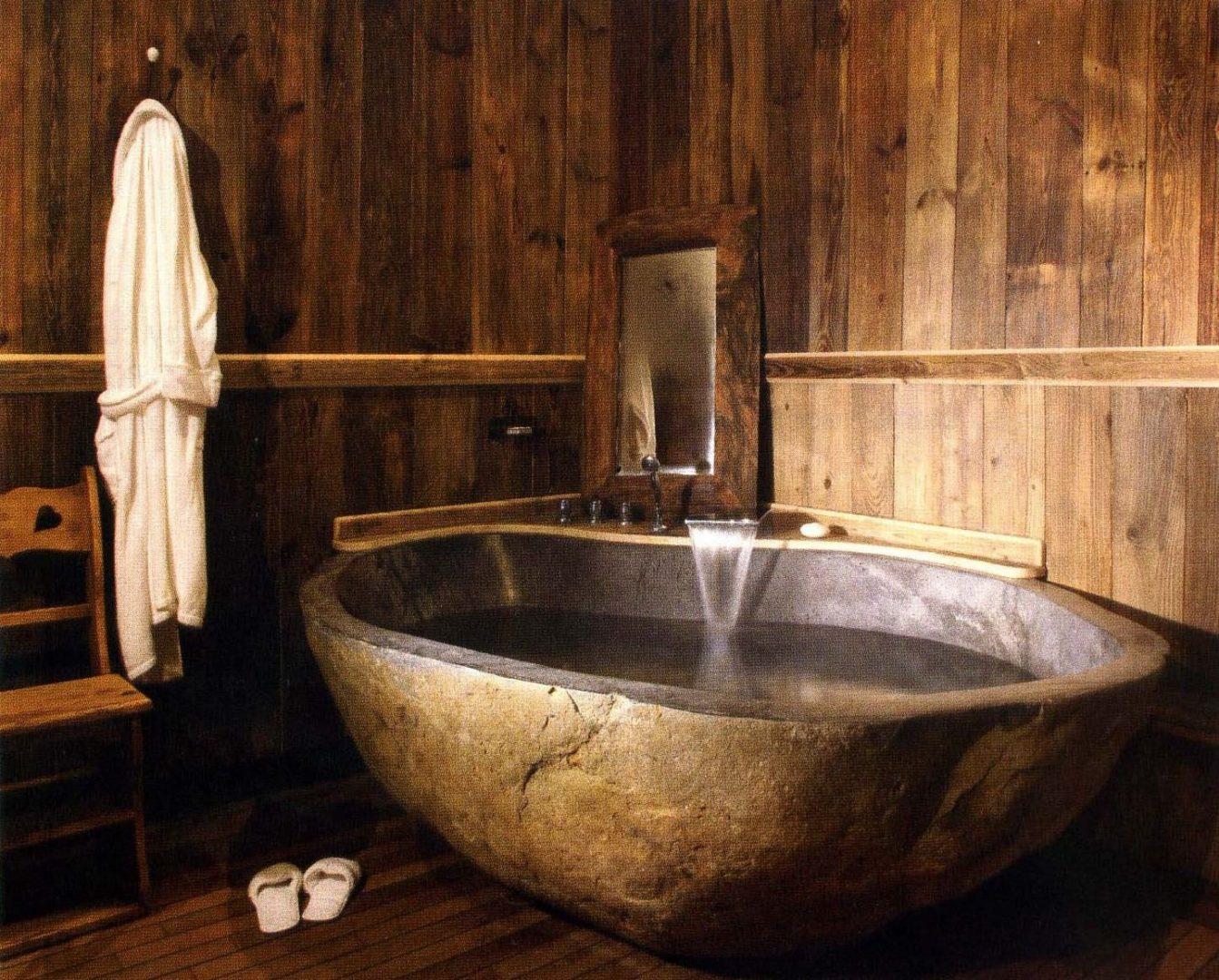 Imagenes Baño Rustico:Bañera de baño de estilo rústico :: Imágenes y fotos