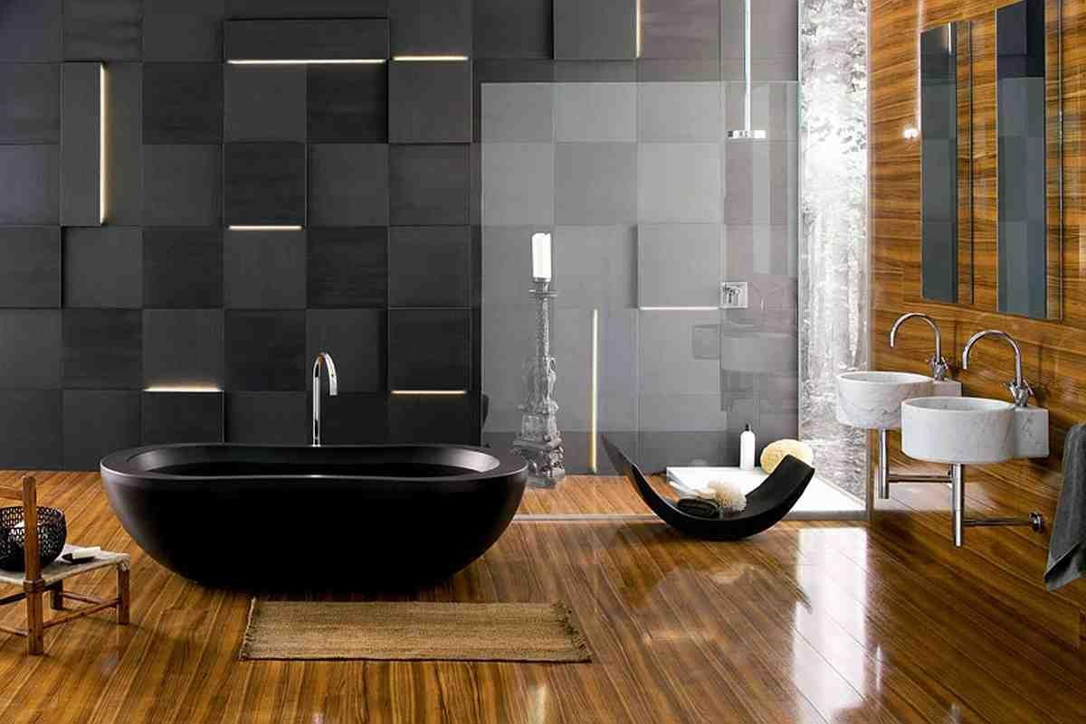 Bañera negra de lujo :: Imágenes y fotos
