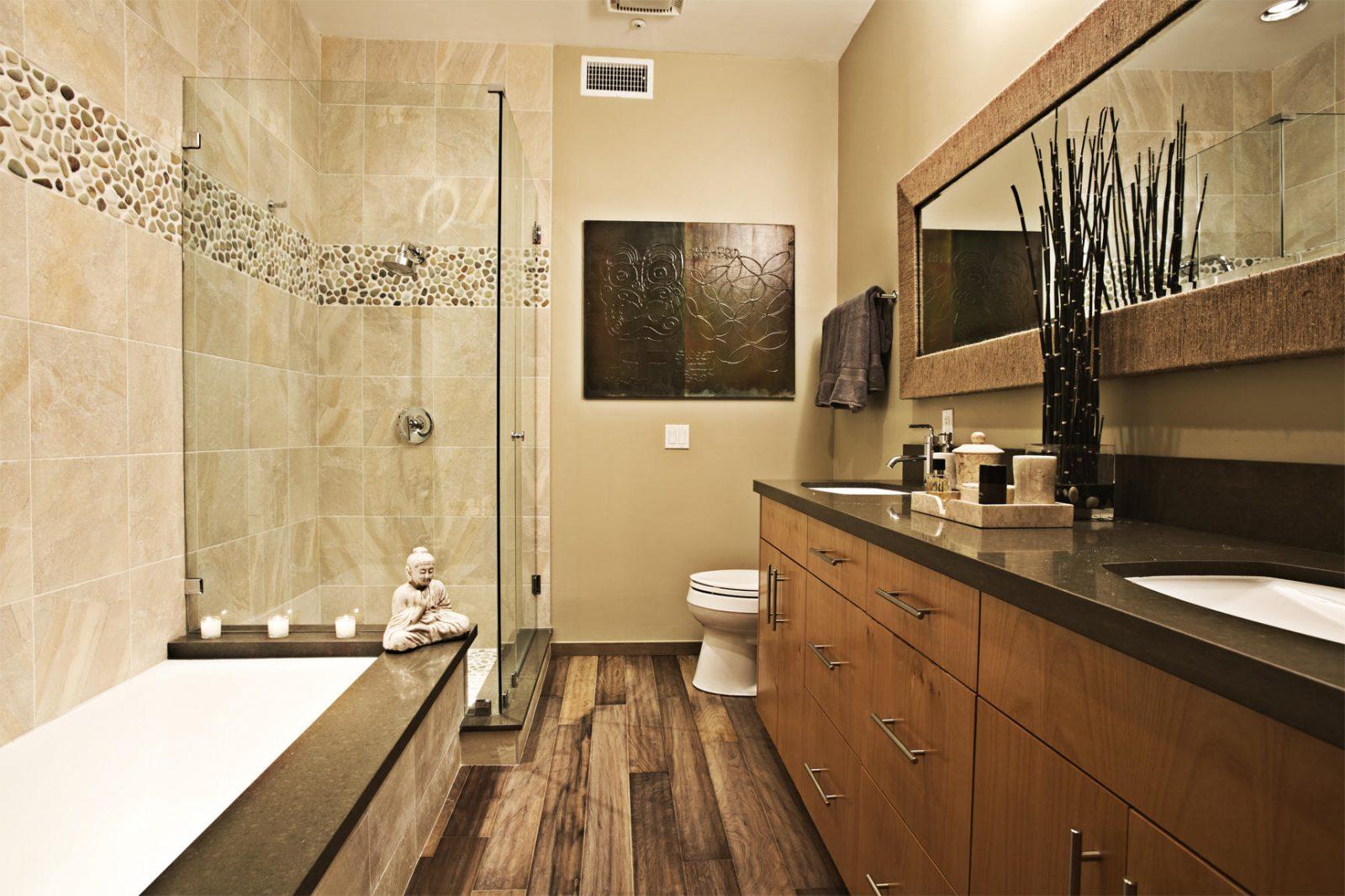 Galería de imágenes: Cuartos de baño rústicos