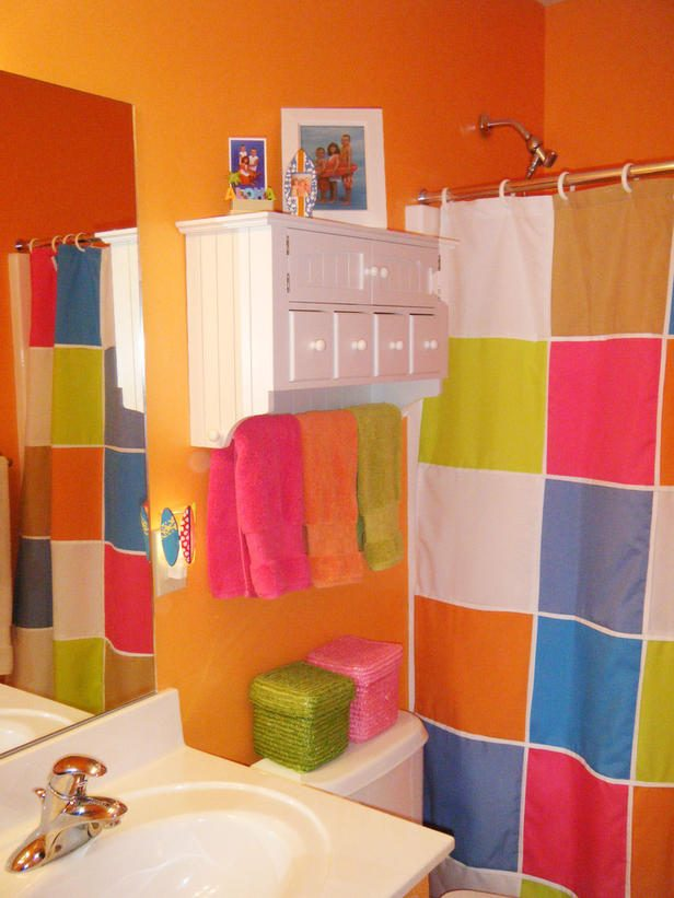 Cortina Baño Infantil:Tropical Bathroom Colors