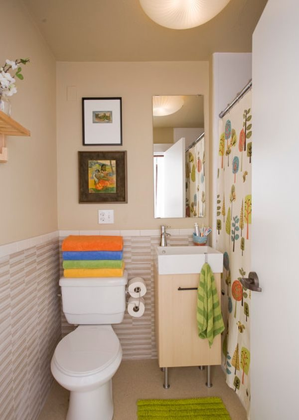 Adornar Baño Pequeno:Small Narrow Bathroom Decorating Ideas
