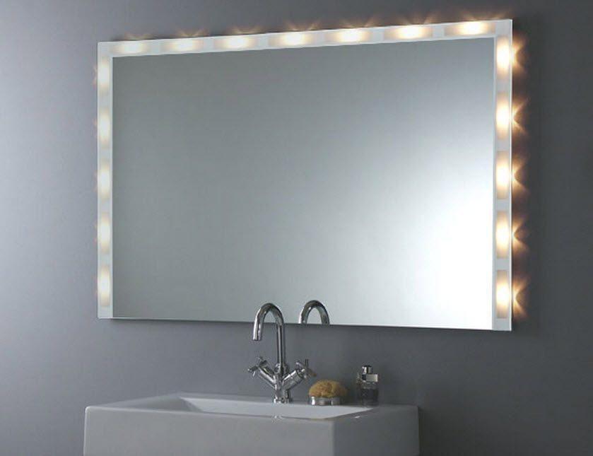 Espejo de baño con luces :: Imágenes y fotos