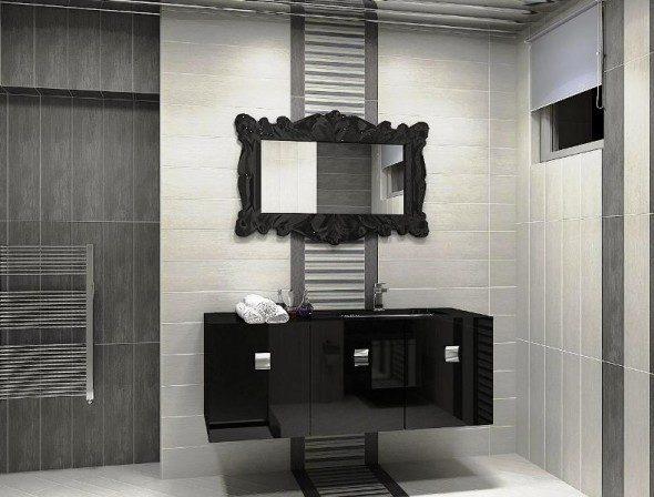 espejo romntico de bao