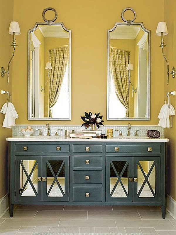 Iluminacion Baño Vintage:Yellow Bathroom Ideas