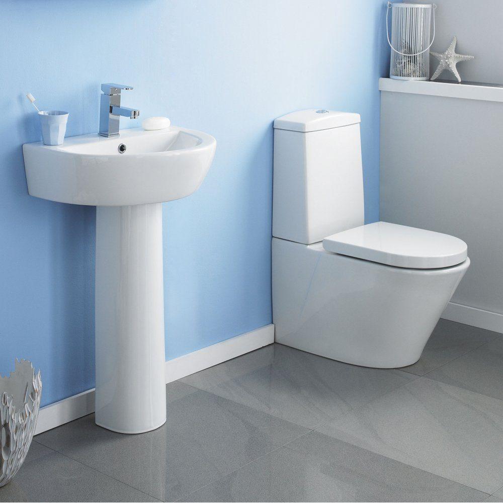 Inodoro y lavabo de cer mica im genes y fotos for Ceramicas para banos modernos pequenos