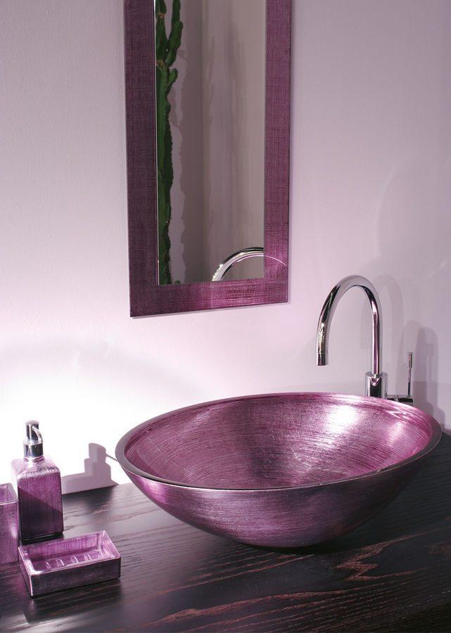 Muebles de bao con lavabo de cristal great diseo de for Lavabos de cristal