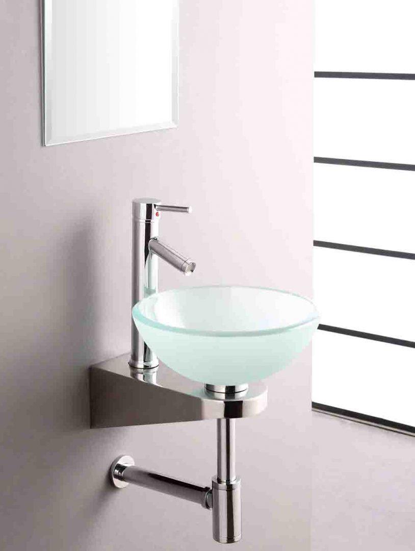 lavabo de cristal templado