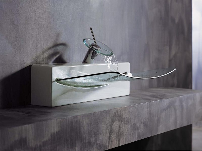 Galer a de im genes lavabos de cristal - Lavabos de diseno ...