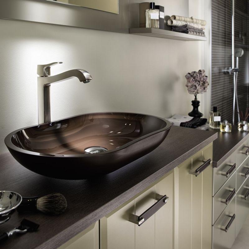 Lavabos de cristal im genes y fotos - Encimeras de cristal para lavabos ...