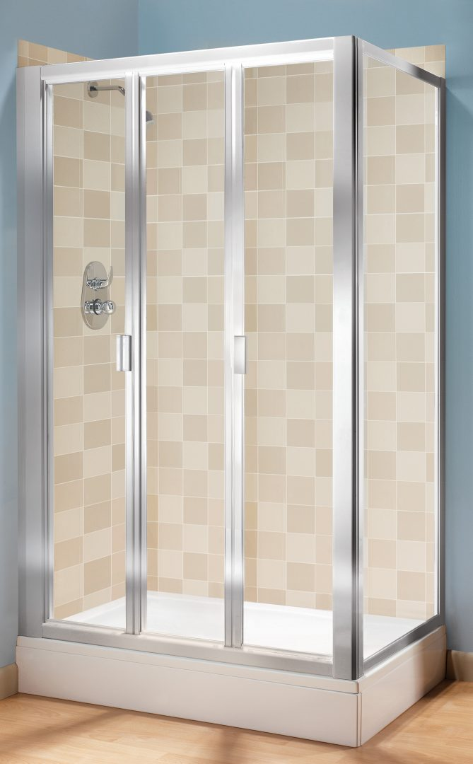 Baño Pequeno Mampara:Tri-Fold Glass Shower Doors