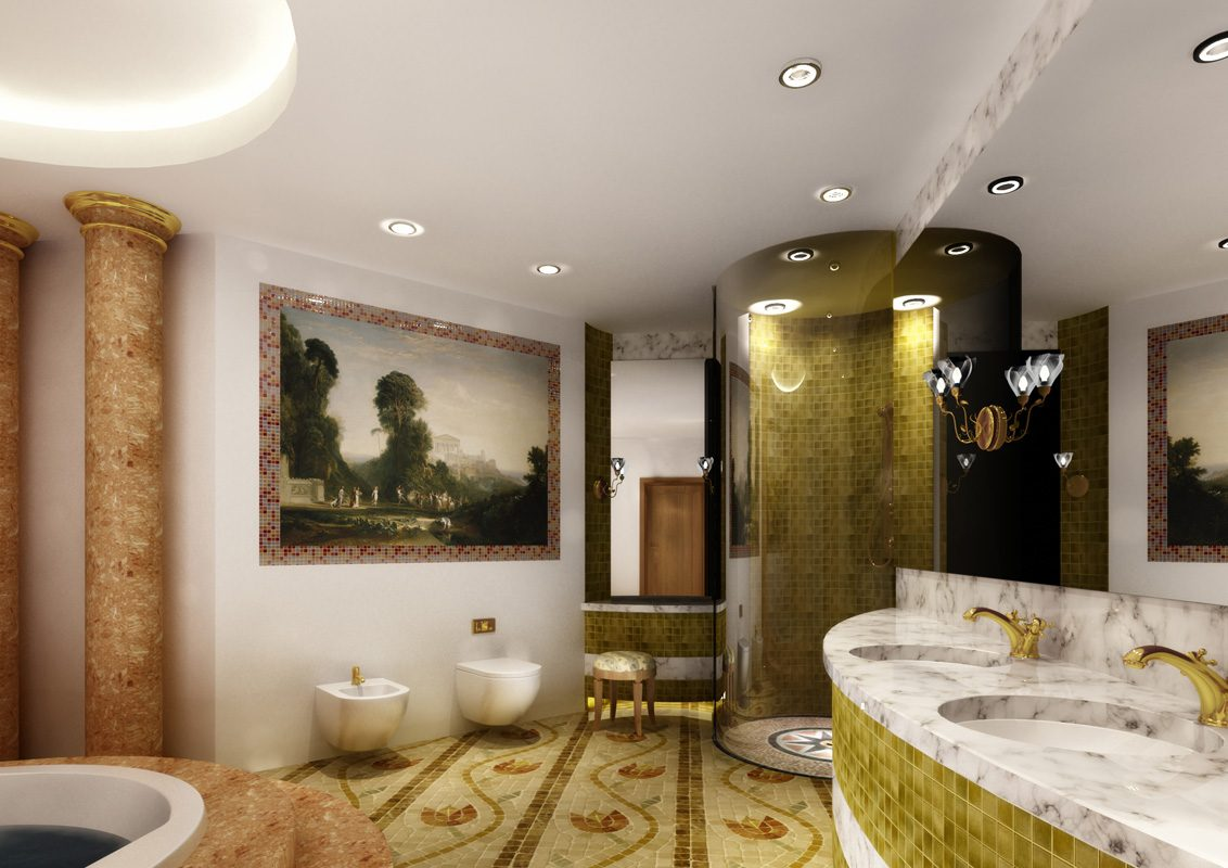 Decoración de un cuarto de baño árabe :: Imágenes y fotos