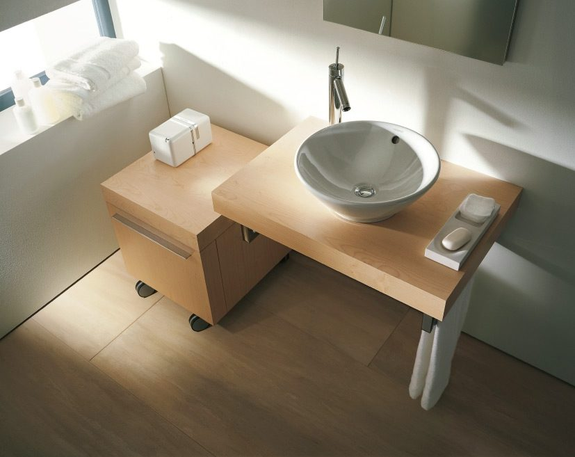 Baño Pequeno Distribucion:Optimización de espacio en baños pequeños